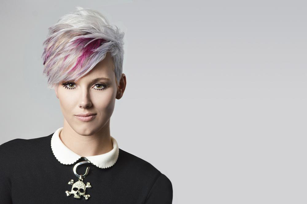 Platinum Hair with Purple - KEITH KRISTOFER SALON