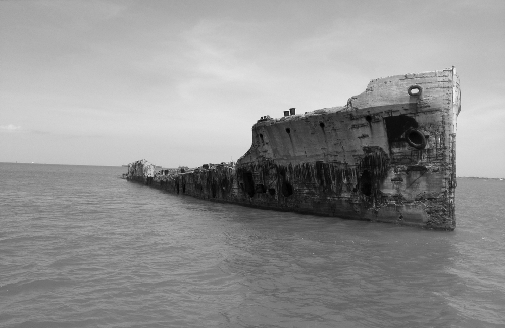 Purposely-sunken ship. According to our boat tour guide, some guy once lived on this thing by himself for about 10 years without anyone knowing about it, growing his own food and raising chickens and everything. Crazy.