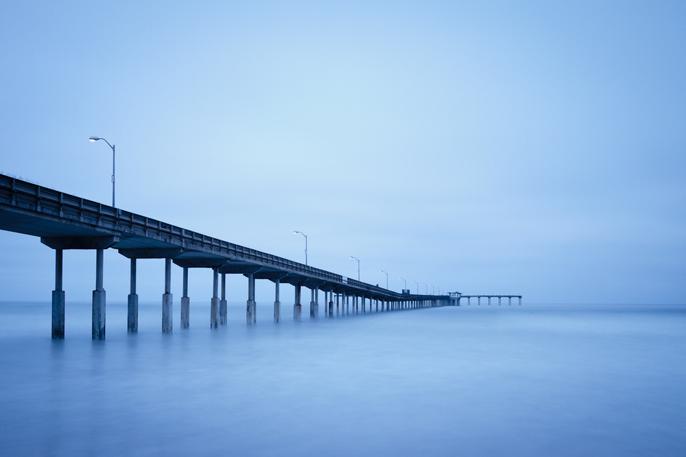 120 second pre-dawn exposure of the pier in Ocean Beach, CA.