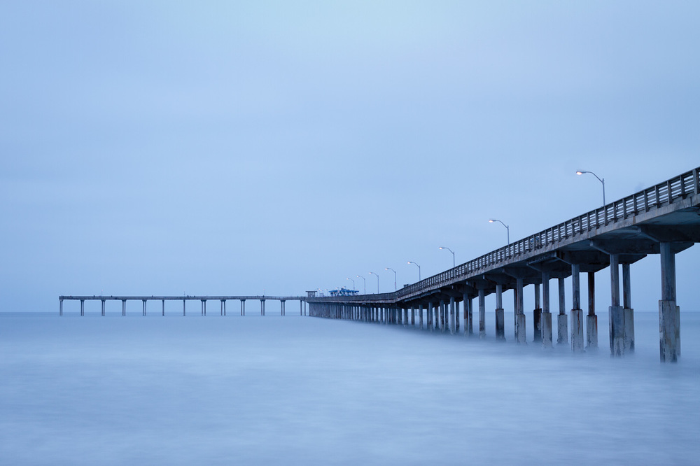 50 second pre-dawn exposure of the pier in Ocean Beach, CA.