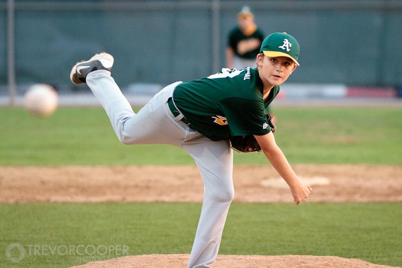 Encinitas Little League Majors Athletics Pitcher