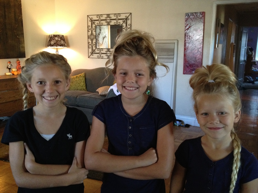 Crazy hair day. I do a LOT of hair with 4 daughters