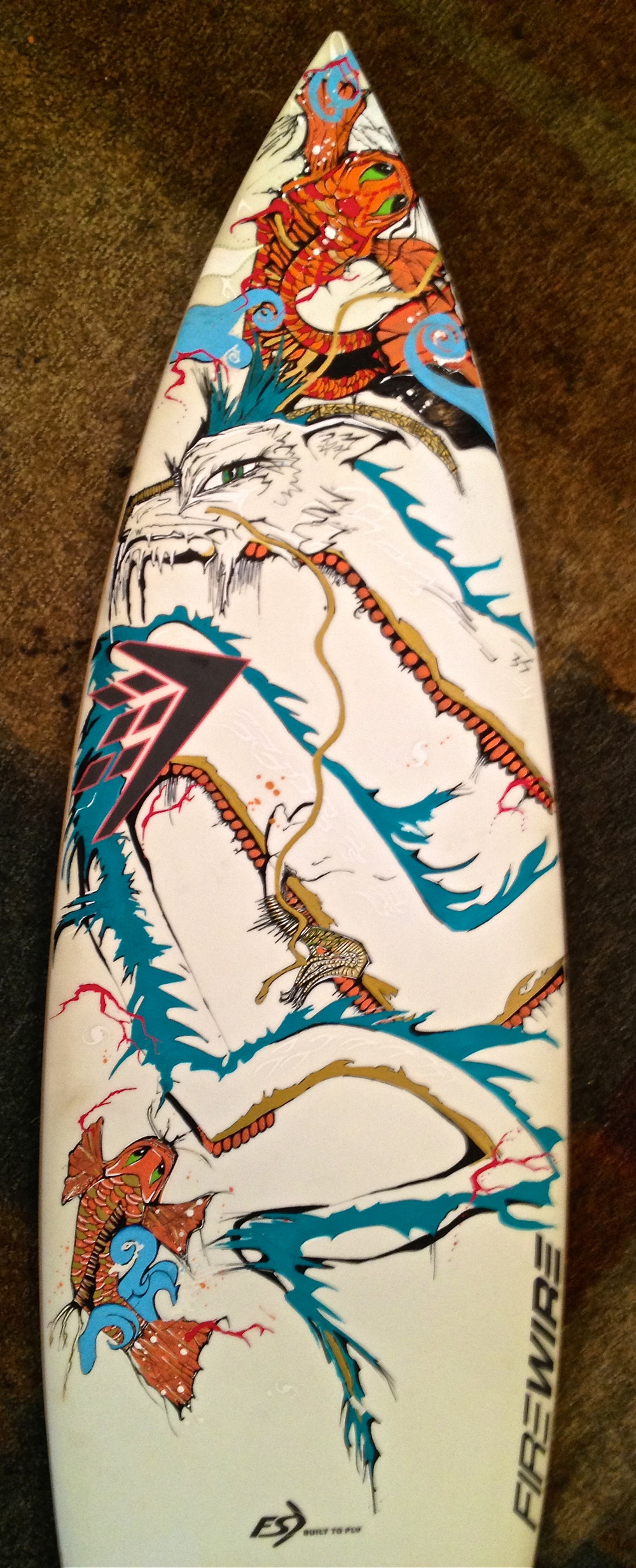 work in progress  FireWire surfboards.  Kellie Thomas-Walker ART