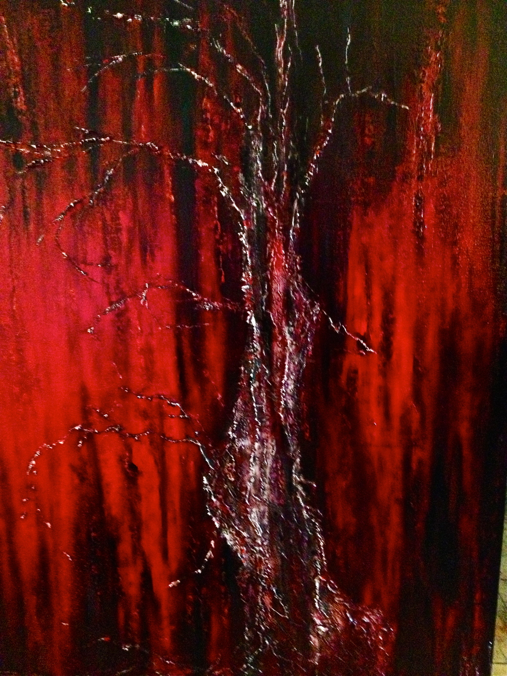 "close up of tree in ""Melancholia"""