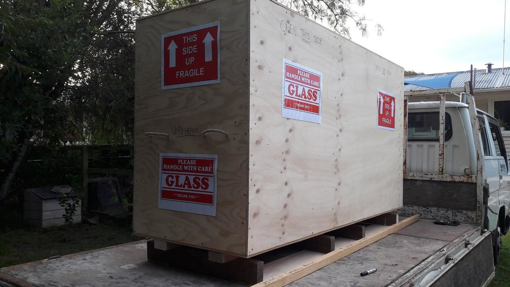 The show all packed and on its way south!
