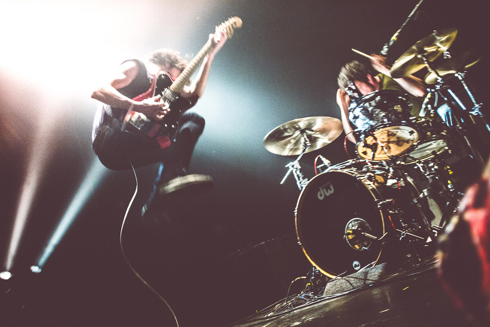Rock 'n roll in action at the Japandroids in Vancouver at the Biltmore, by Tom Nugent