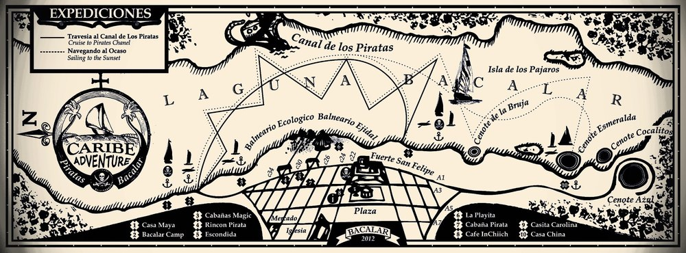 The route of the Piratas Bacalar