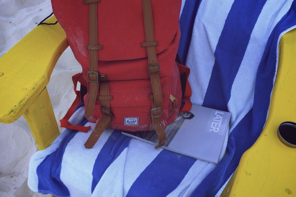 "Herschel Supply Co.'s ""Little America"" backapck, hanging out with LaterMAG"