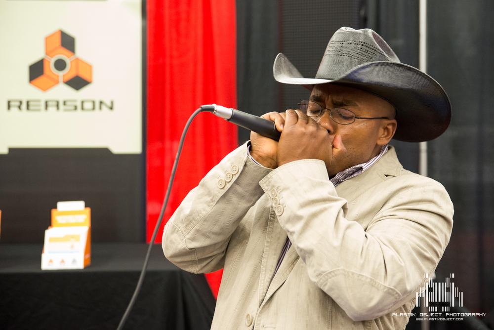 A Harmonica, Reason, Dub-Step, and a cowboy hat.