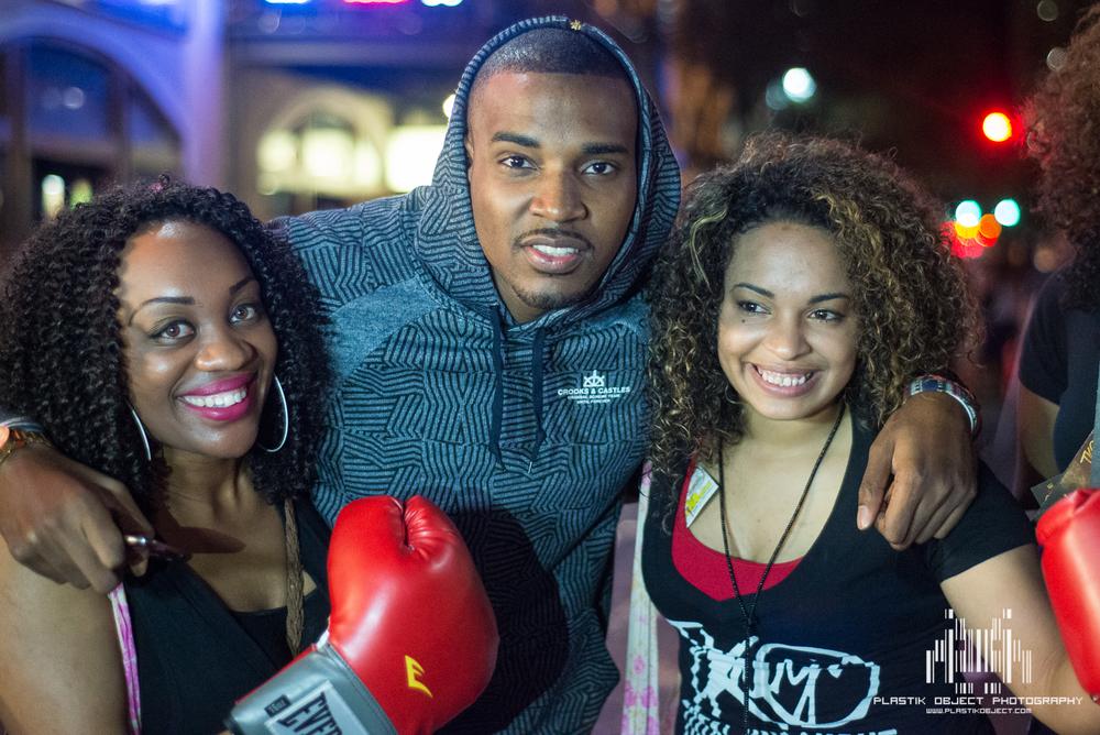 Random Hip Hop artist with cheesy ring girls.