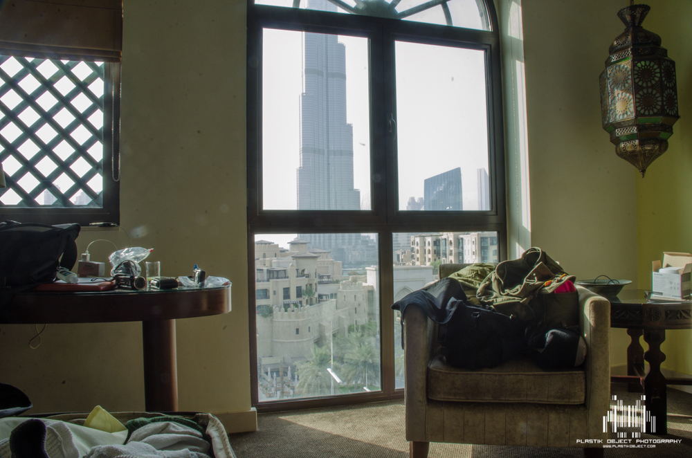 An interior shot of our hotel room. Not great, but it gives an idea of what our view was.