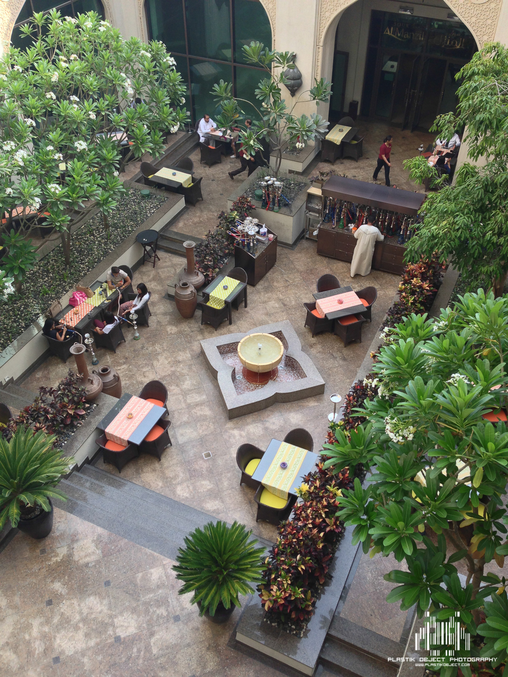The hotel had a nice little courtyard that included a restaurant and hookah lounge