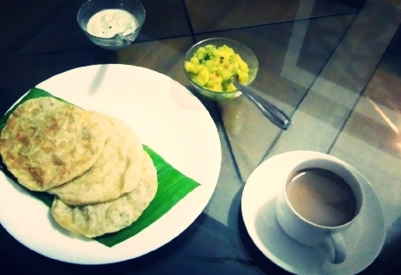 Puri and Chai- Welcome to India