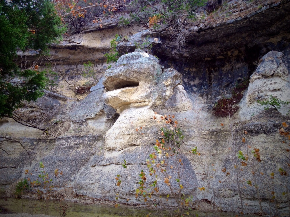Look familiar? They carved your face out of rock. Monkey Rock.