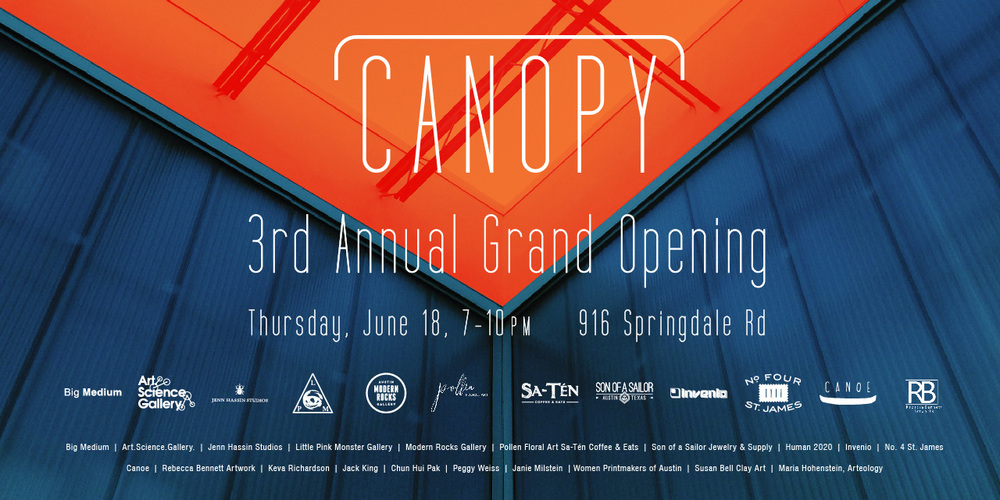 Open Studios during the Canopy party! 7-10pm, June 18, 2015