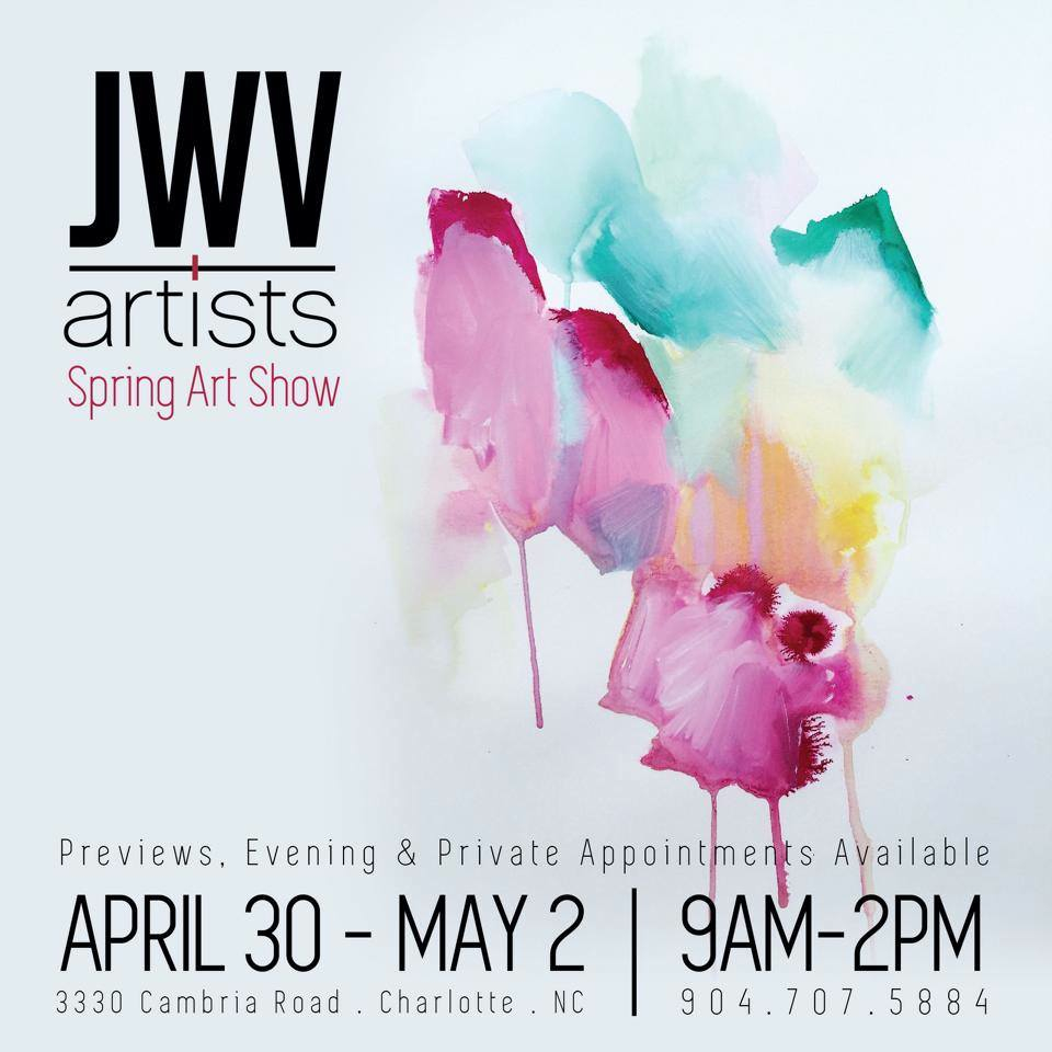 New work featured on JWV Artists flyer for Spring Show 2015