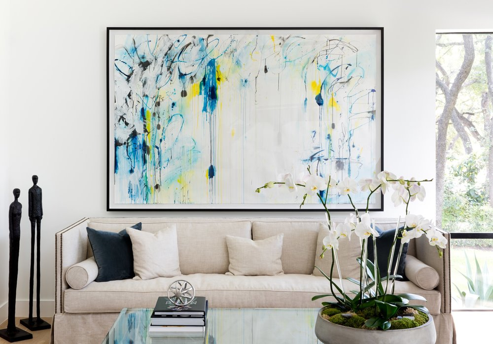commissioned for private residence in Austin, TX   photo courtesy of  Alicia Emr Art Advisory