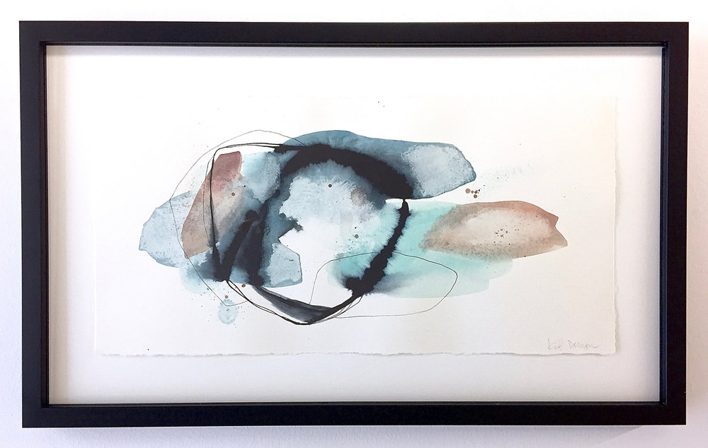 #3, from  The Little Things  collection  watercolor, ink & pen on paper  11 x 18, framed  2017  Currently on view and available through  M2 Gallery  in Little Rock, AR