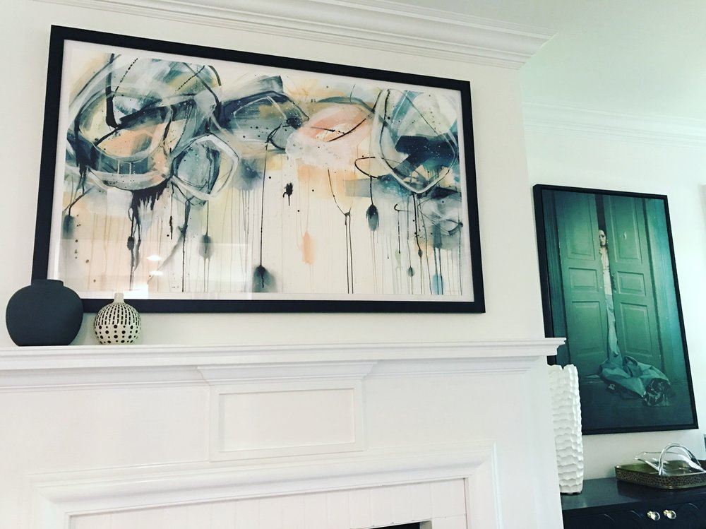 commission for private residence in Charlotte, NC     Art House Charlotte    for    Four Story Interiors