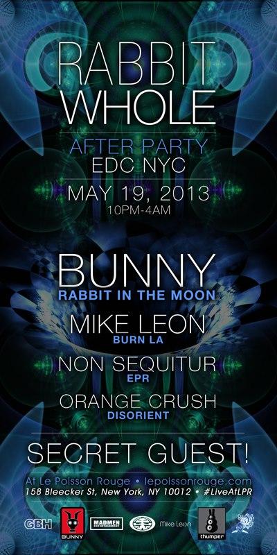 non sequitur bunny rabbit in the moon mike leon insomniac edc edcny electric daisy carnival