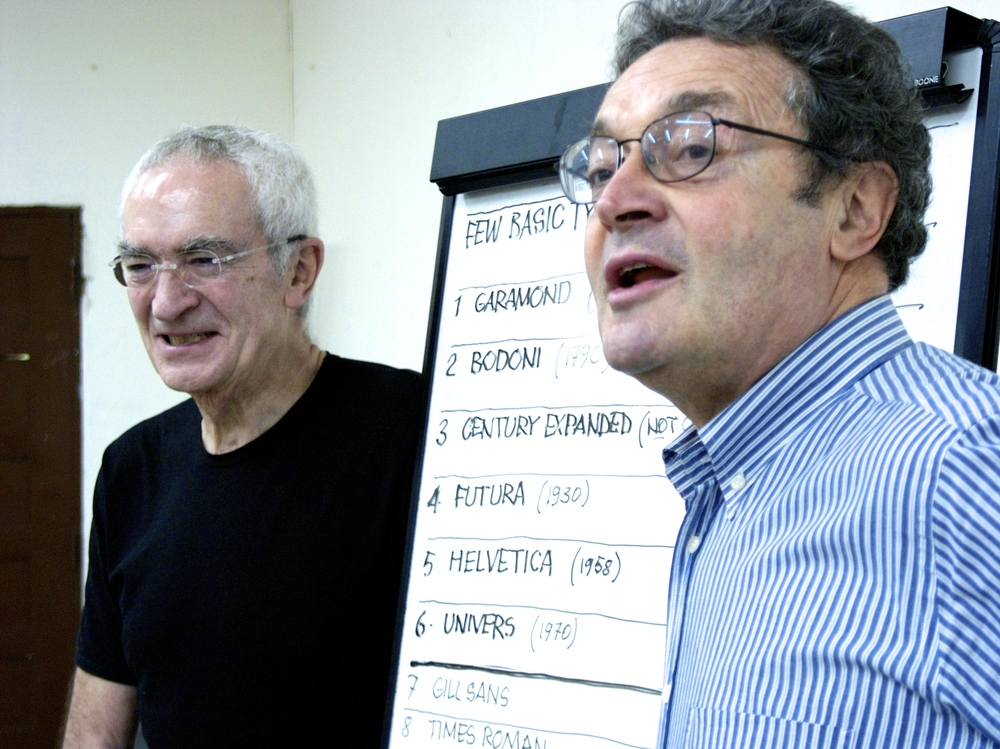 Designers Massimo Vignelli (Left) and Domingo Milani (Right)