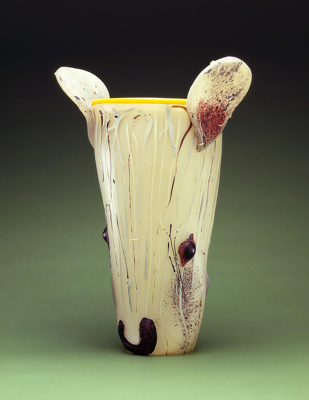 Rat   1997. Blown glass, sandblasted and acid polished. 20 x 15""