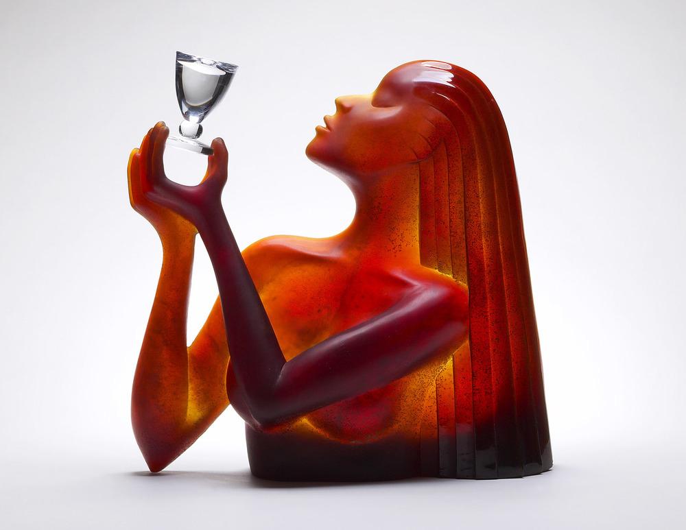 """Le Vin   1988. Pate de verre, crystal. 16½ x 18½ x 8""""  Cristallerie Daum  Nancy, France"""