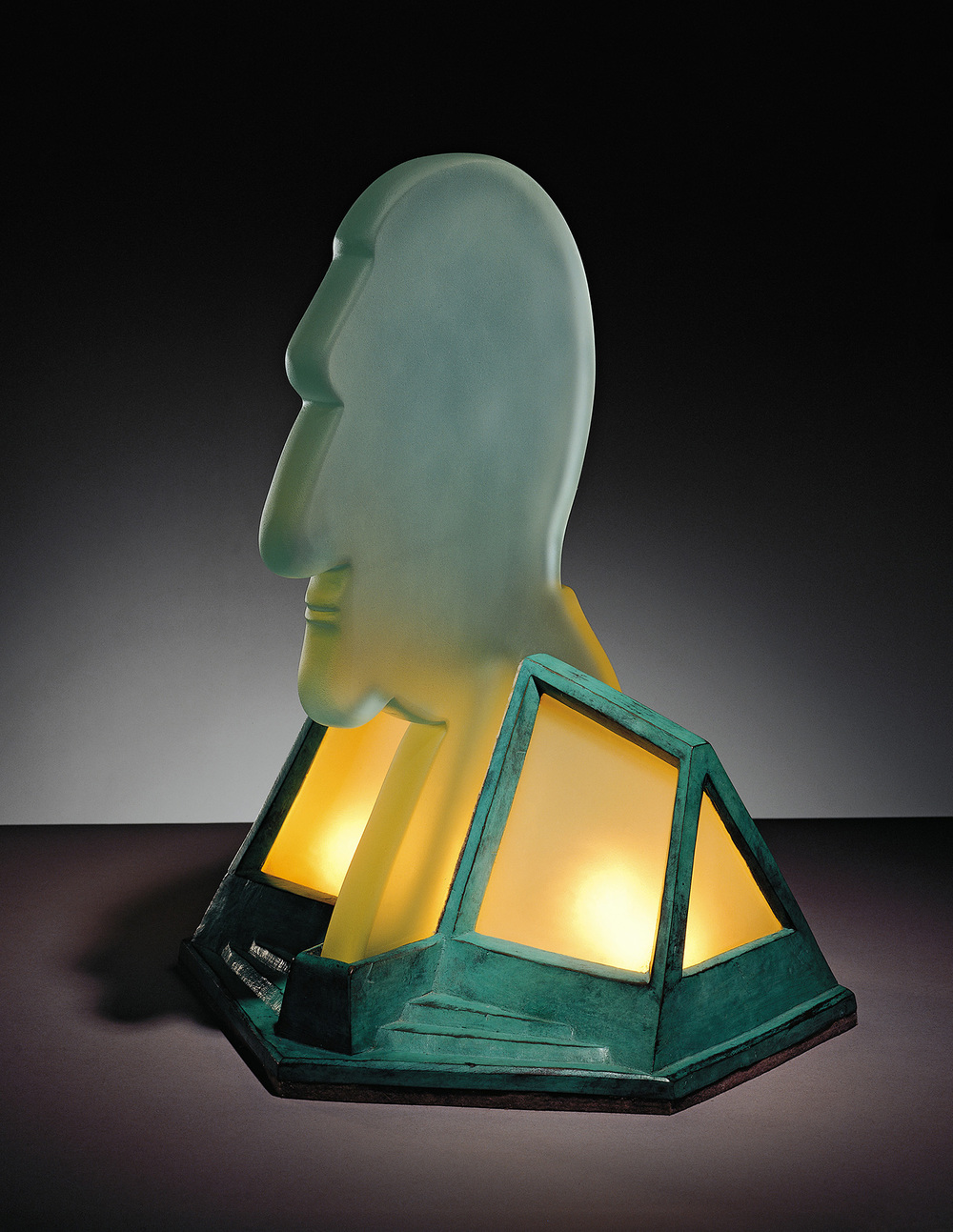 Marcel Duchamp   1977. Plate glass and cast bronze. 18 x 14 x 14""