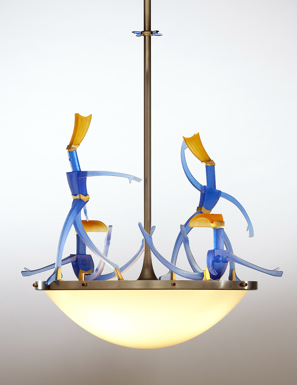 Light Ballet   2006. Blown glass, nickel and gold-plated bronze, brass, aluminum, steel, pate de verre and lampworked glass. 28½ x 32½ x 28""