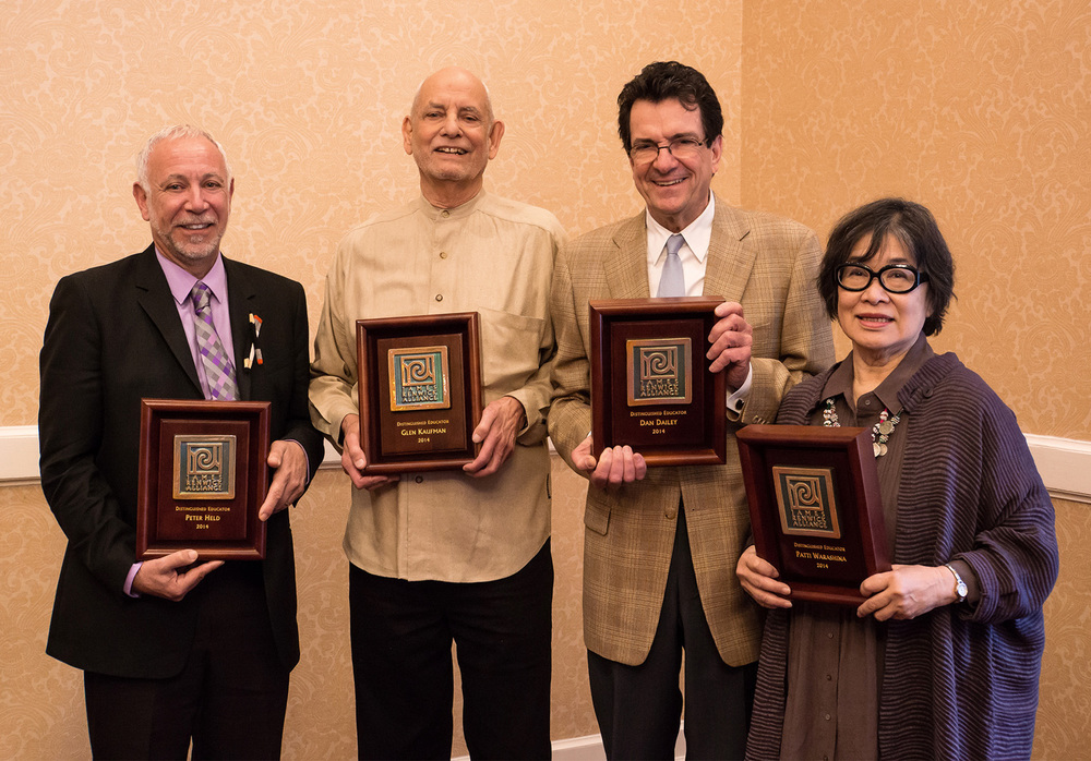 Distinguished Educators Peter Held, Glen Kaufman, Dan Dailey and Patti Warashina.