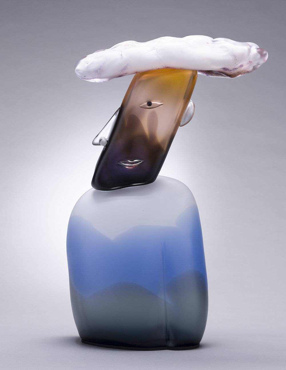 Cloud   2007. Blown glass, aluminum. 26½ x 18 x 5½""