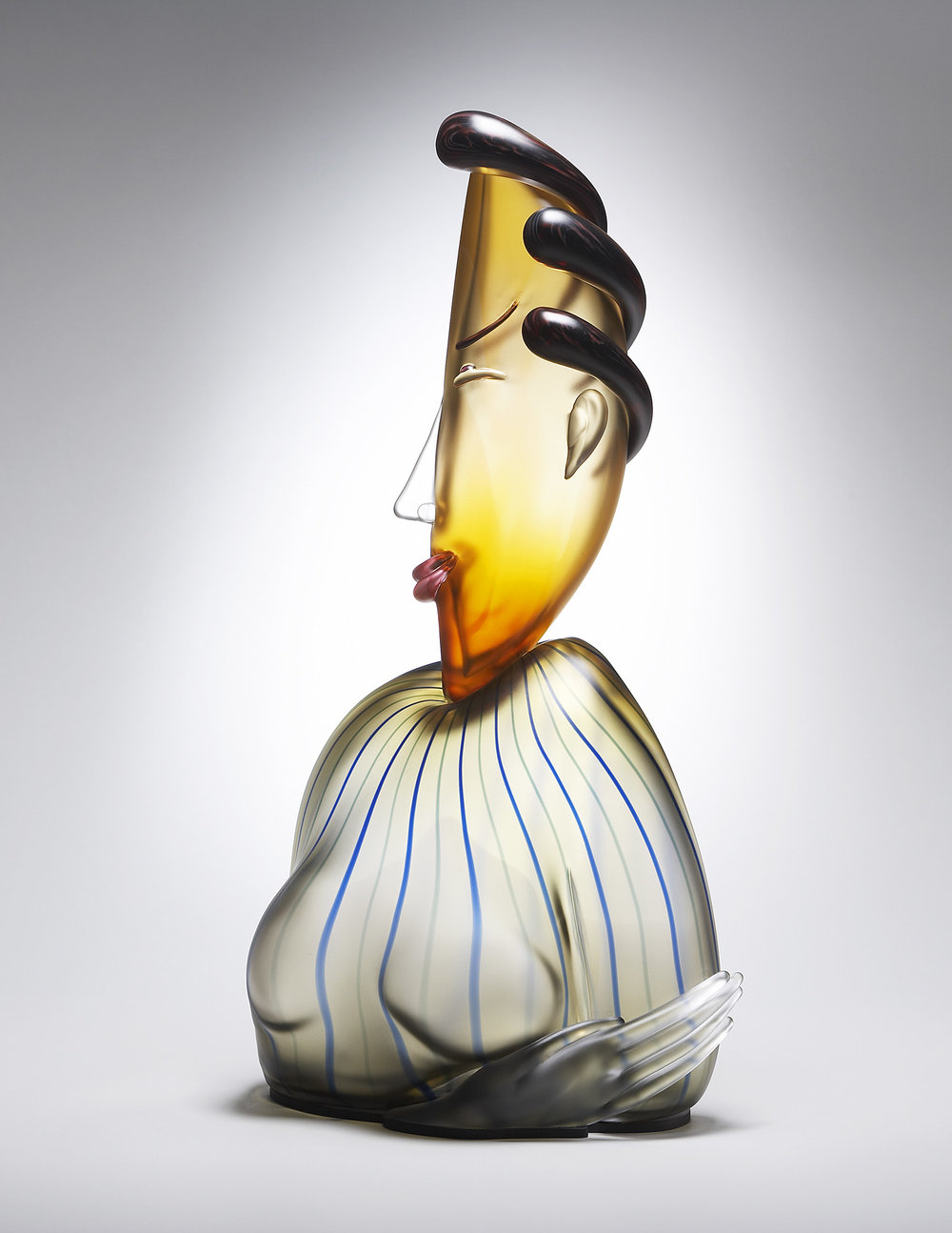 Virtue   2006. Blown glass, aluminum. 27 x 13 x 7""