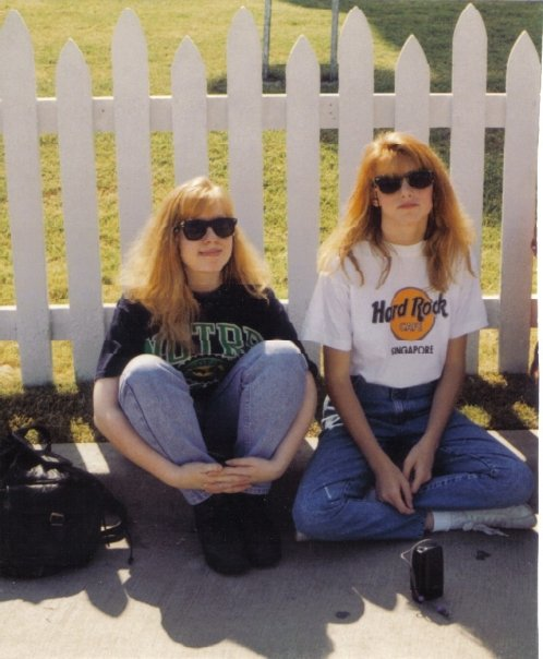 My friend, Jenny, and I at the Texas State Fair in 1992. This was at the end of the day. We were exhausted and I was done with my mom taking pictures. Hence then teenage-not-gonna-smile pose.