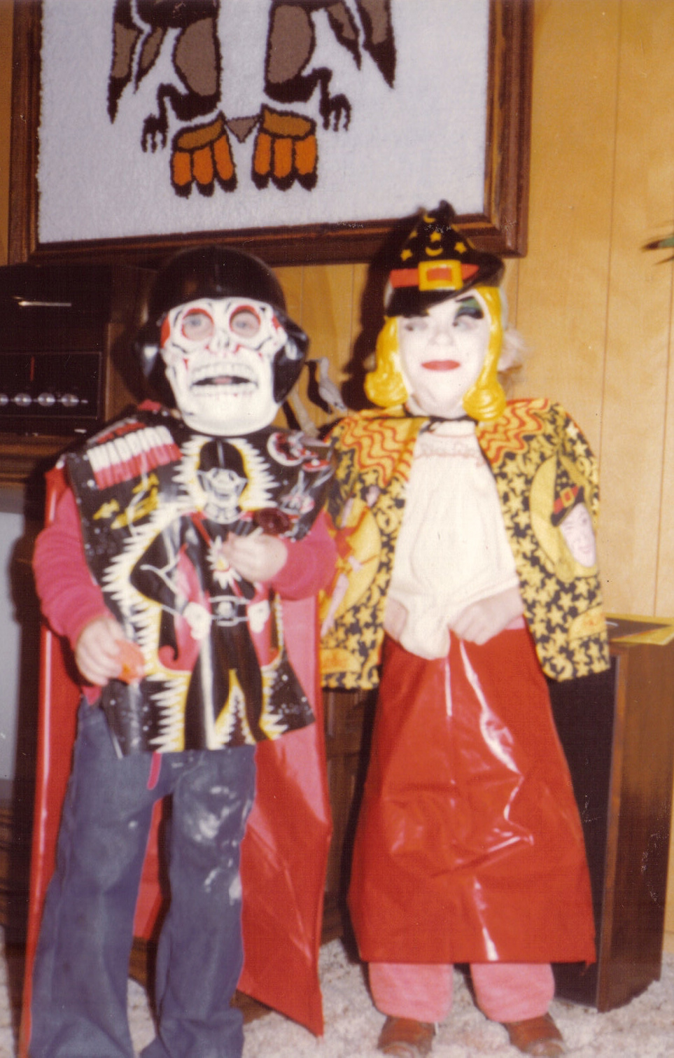 "At least he didn't come out like this. We'd probably all be dead now. I'm the one on the right, by the way. Who looked at that costume and thought, ""My four-year-old daughter will LOVE this!"""