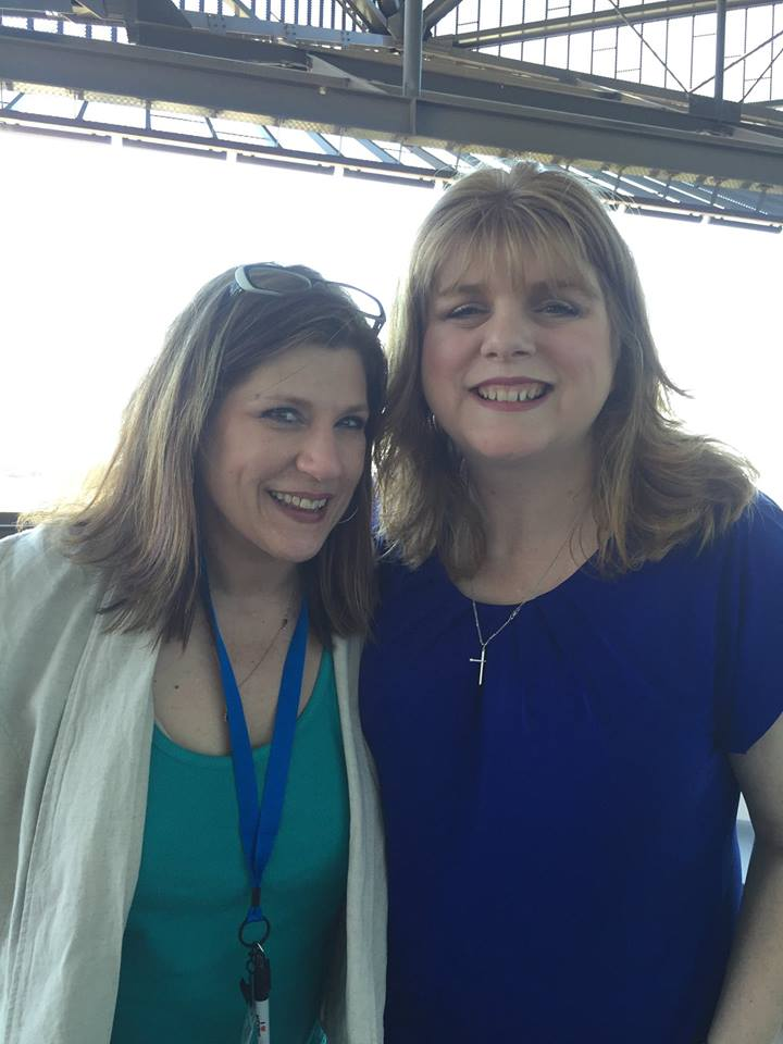 Janet and me at the North Texas Teen Book Festival in 2016.