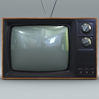 Which is funny, because my television looked like this.