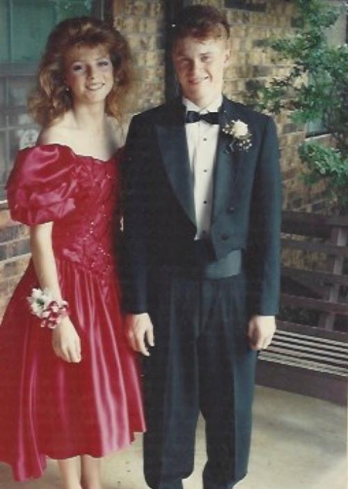 Prom 1992. Same guy. Even bigger hair.