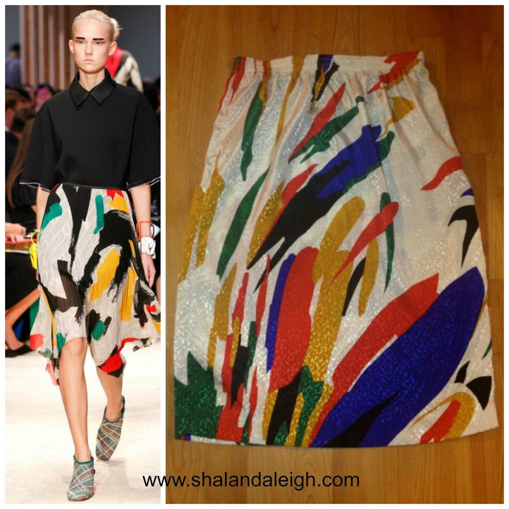 #7: The Look for Less: Céline Spring 2014 RTW Graffiti Skirt www.shalandaleigh.com.jpg
