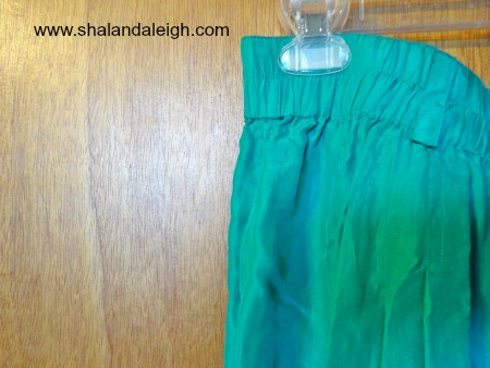 Silk Emerald Green Shorts - www.shalandaleigh.com Close Up.JPG