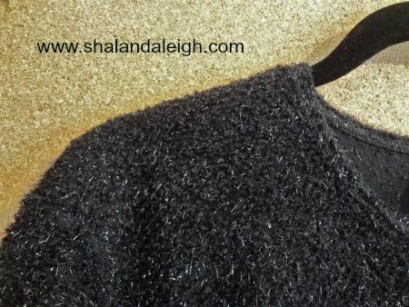 FuzzyBlackSweaterCloseUp - www.shalandaleigh.com.JPG