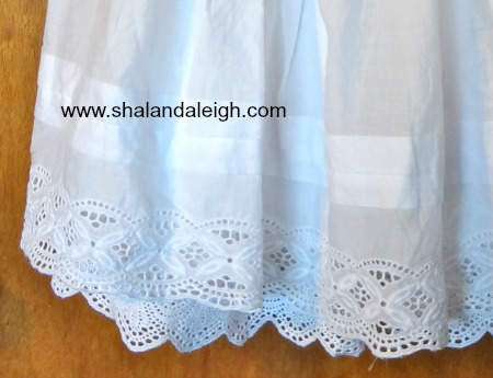 White Lace Trimmed Skirt - www.shalandaleigh.com Close Up.JPG