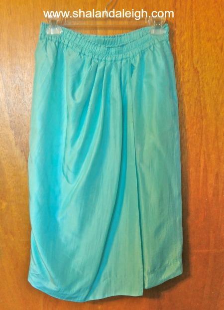 Light Teal Ruched Skirt - www.shalandaleigh.com.JPG