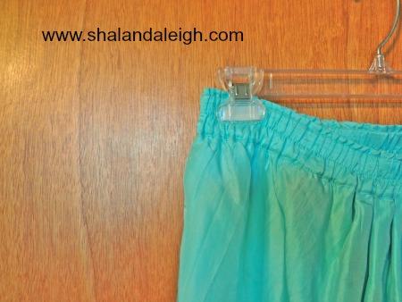 Light Teal Ruched Skirt - www.shalandaleigh.com Close Up.JPG