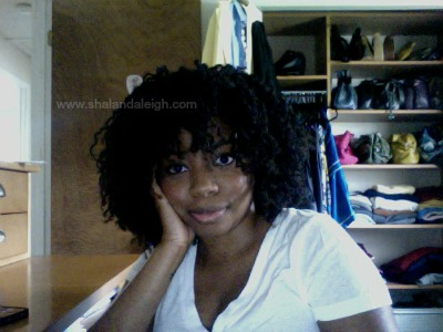 Natural Hair Twist Out Black Woman