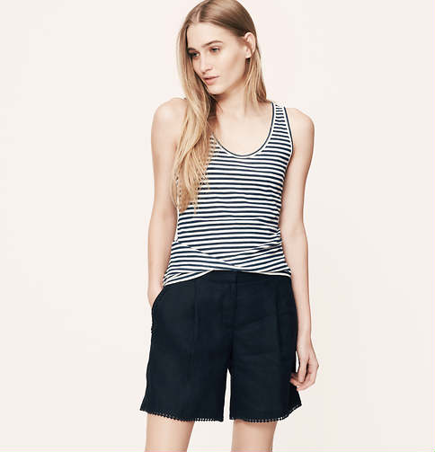 Ann Taylor Sunwashed Striped Tank