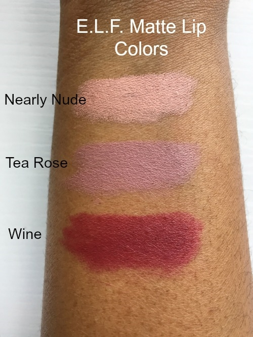 ELF Matte Lip Color Swatches 2
