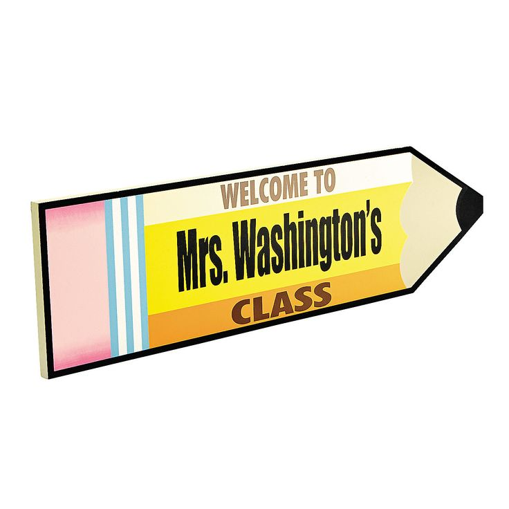 Personalized Classroom Welcome Sign