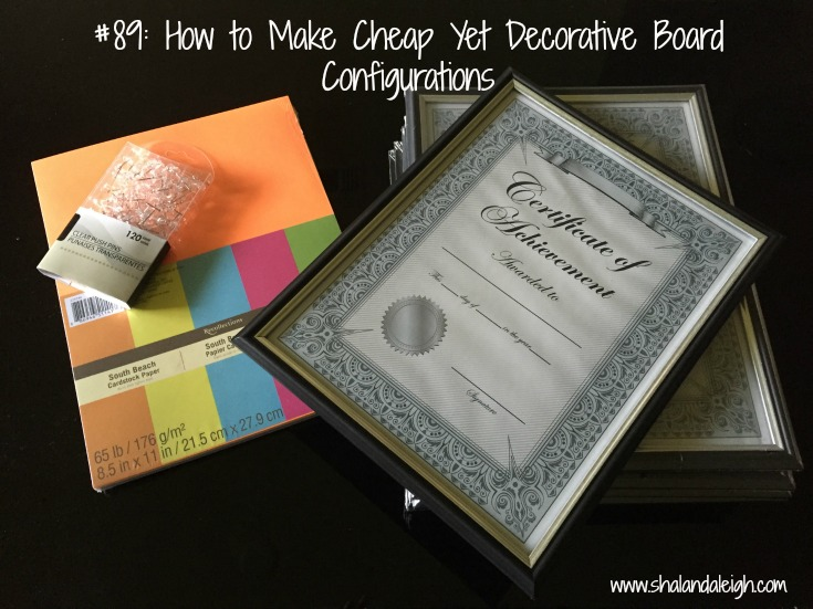 #89: How to Make Cheap Yet Decorative Board Configurations - www.shalandaleigh.com