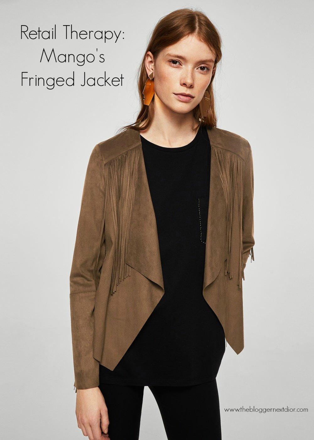 Mango Fringed Jacket 1
