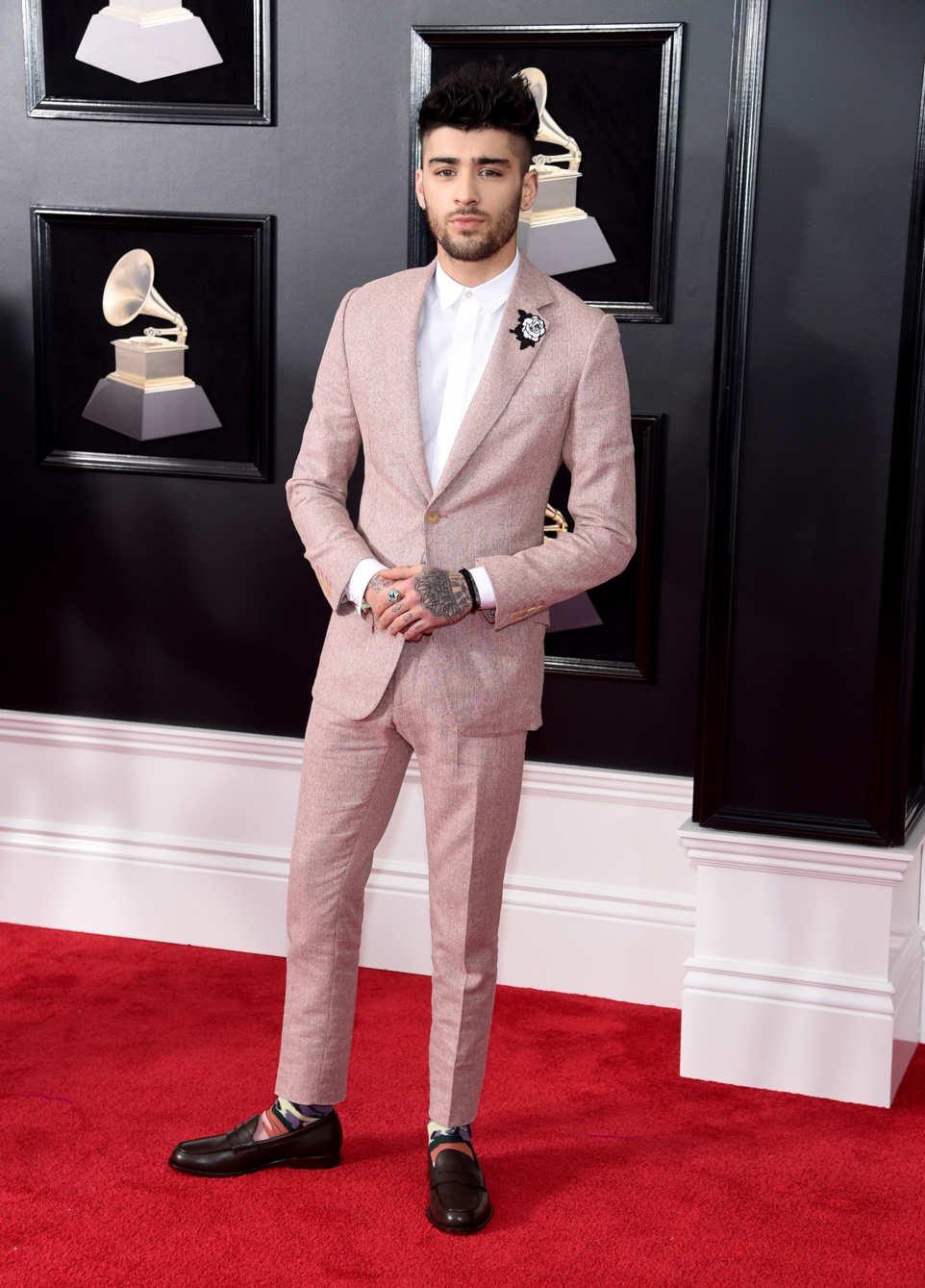 Grammys Awards 2018 - Zayn Malik in Richard James .jpg